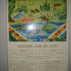 Affiche sporting club de Vichy