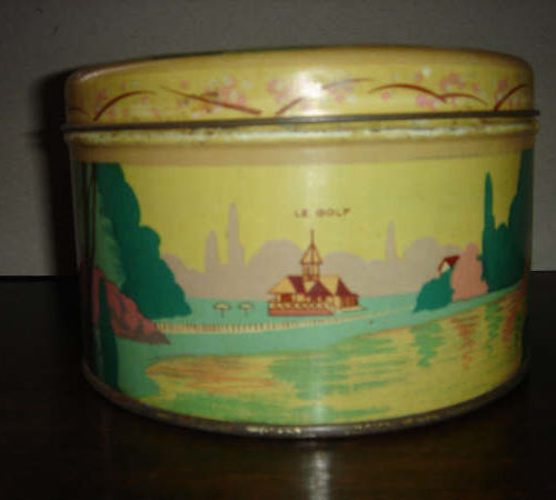 Vichy boîte à biscuits jaune