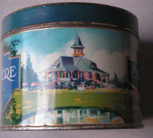 Vichy boîte de biscuits bleue