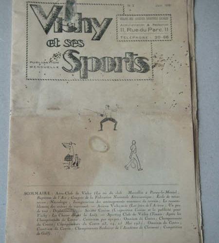 Revue Vichy et ses sports