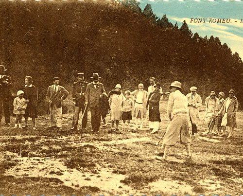 carte postale ancienne éditée lors de l'inauguration du golf