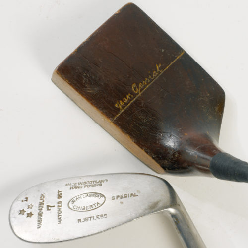 "Putter ""piano"" Jean Gassiat et fer ""mashie niblick"" Jean Gassiat - Chiberta GC"