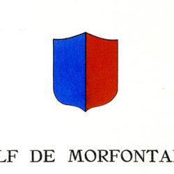 """écusson du golf de Morfontaine - Oise extrait de """"Le Golf"""" avec préface autographe du Duc de Mouchy - circa 1930"""