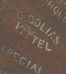 """détail estampille 'Gustave GOLIAS Vittel"""""""