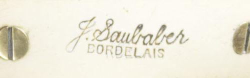"""détail estampille """"Jean SAUBABER Bordelais"""""""