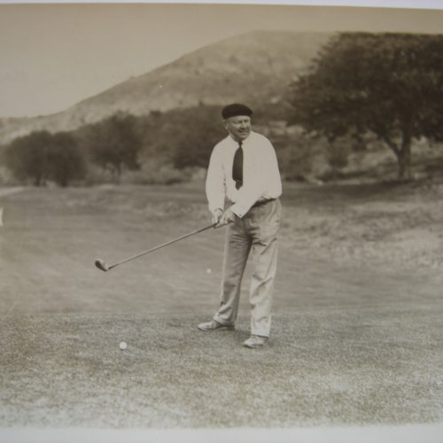 Arnaud Massy au golf du Mont-Agel, au tournoi profesionnel le 29-10-1930