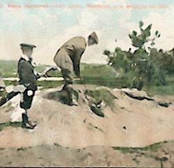 Carte postale ancienne de 1920 - Mr John D. Dunn bunkered, Hardelot golf links près Boulogne sur Mer