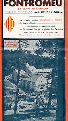 tract 3 volets du Syndicat d'Iniatives de Font Romeu de 1939