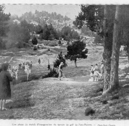 article de l'Illustration sur l'inauguration du golf de Font Rmeu en Septembre 1928 (1)