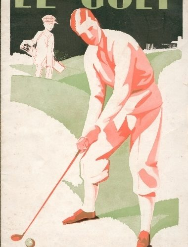 """plaquette """"le golf"""" de 1929 éditée par le chemin de fer d'Orléans à Paris"""