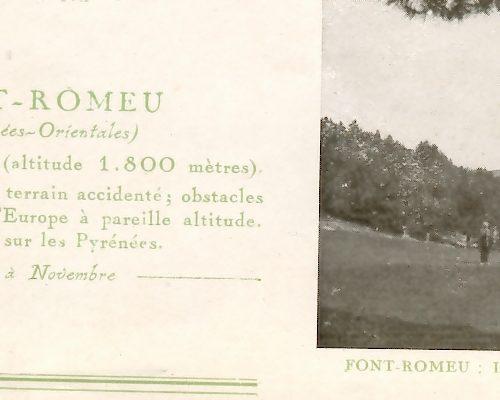 """détail plaquette """"le golf"""" de 1929 (2)"""