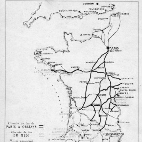 détail plaquette chemin de fer réseaux Orléans et Paris de 1929