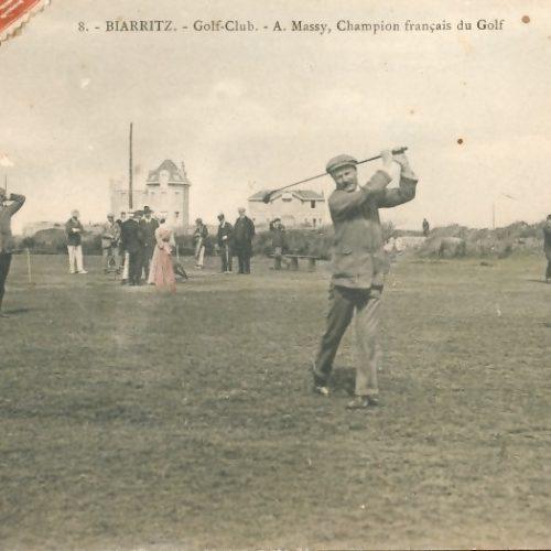 Carte postale ancienne BIARRITZ Golf Club - A. Massy, champion français de golf
