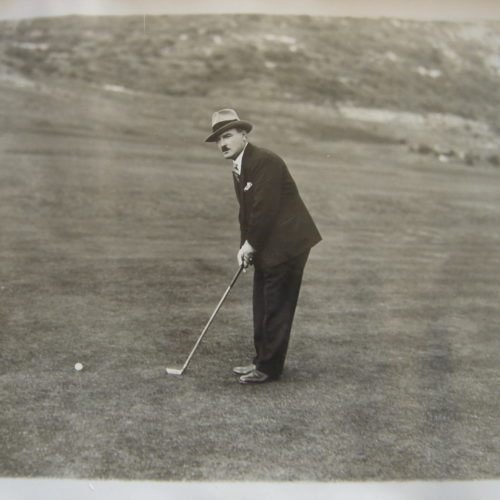 René Golias vainqueur de l'open professionnel au Golf de Mont-Agel le 29/10/1930