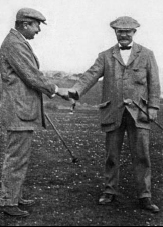A. Massy et A. Kirkaldy au golf de St Jean de Luz