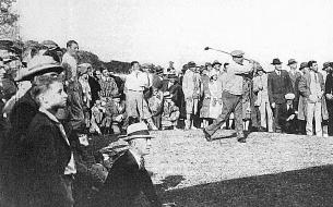 Tournoi en 1926 - Floride USA - A. Massy au drive