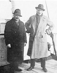 A. Massy et A. Compston en 1926 aux USA