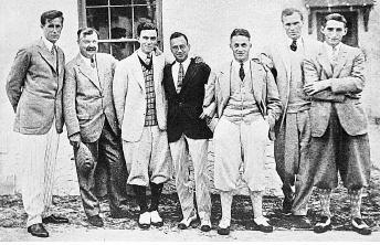 A. Massy, 2ème en partant de la gauche, USA 1926