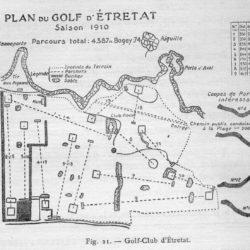 """Plan extrait de """"Le Golf"""" par Arnaud Massy (1911)"""
