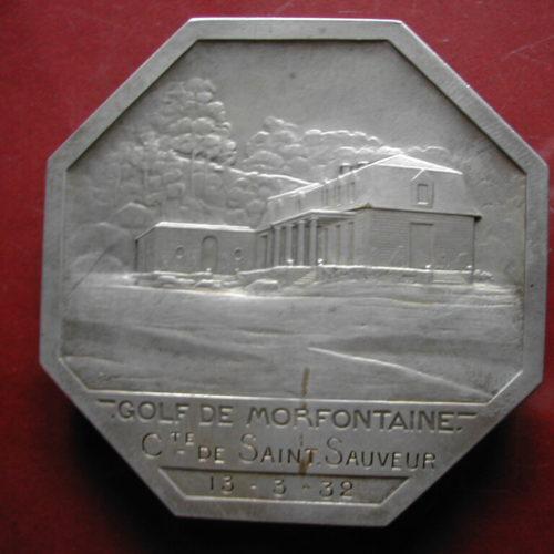 Médaille Comte de Saint Sauveur du 13-03-1932