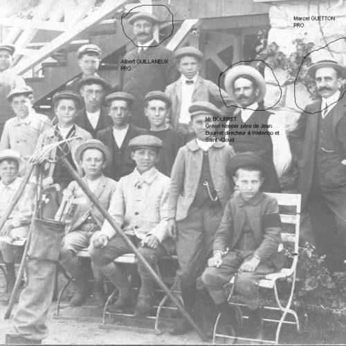 Photo du personnel avant 1920