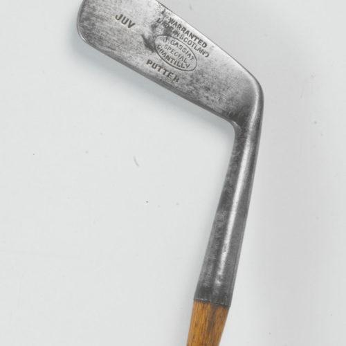 Putter Jean Gassiat Chantilly GC - circa 1920 (à noter les initiales JUV qui indiquent que ce club servait pour l'enseignement des enfants !)