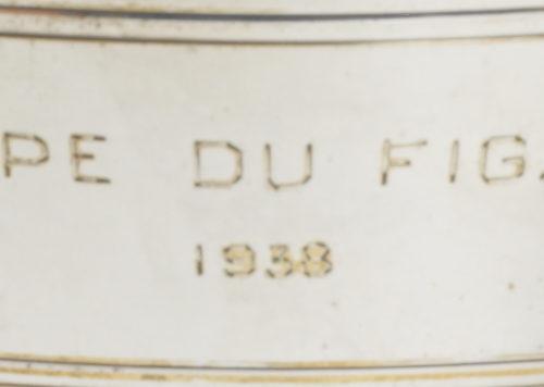Détail coupe du Figaro de 1938 du golf d'Aix les Bains par Keller