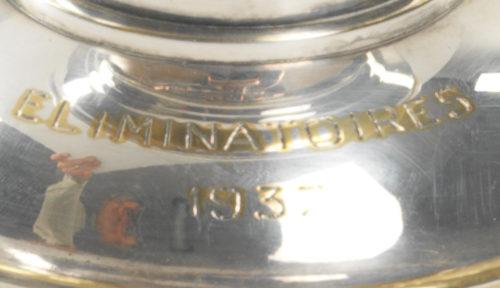 Détail coupe du Figaro de 1937 (Eliminatoires) du golf d'Aix les Bains par Keller