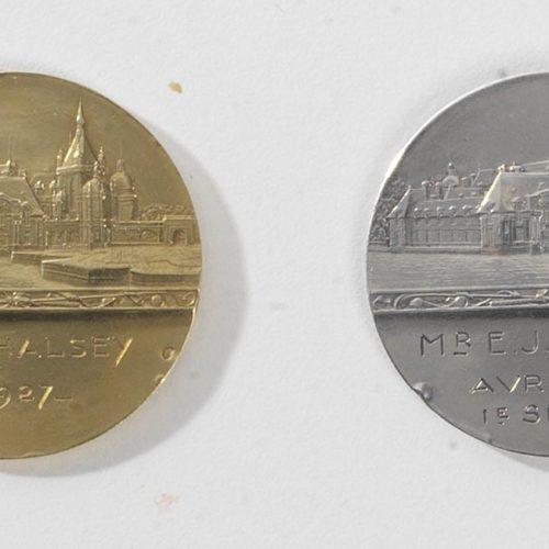 Revers médailles or 1927 et argent Avril 1931 attribuées à Mr E. J. HALSEY 1ère Série.