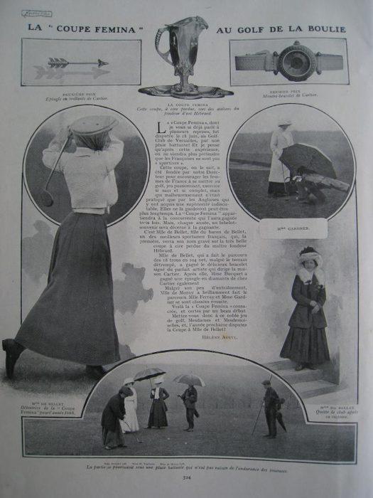 Pauline de Bellet 1908 1ère championne de France