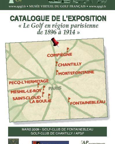 """Plaquette """"le golf en région parisienne de 1896 à 1914"""""""