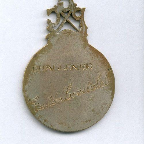"Verso médaille n°1 "" Challenge Gaston Loustalet"""