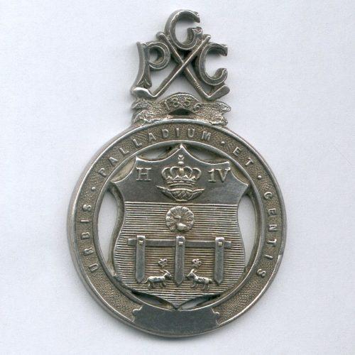 Recto deuxième médaille du PGC