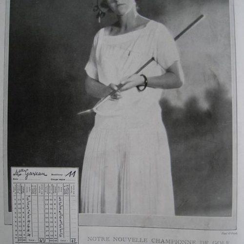 Mlle Janine Gaveau Championne de France 1922,1923, 1924, 1931