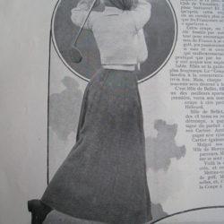 Mlle Pauline de Bellet / Champione de France 1908, 1909, 1910, 1912, 1913, 1920, 1921 et 1932.