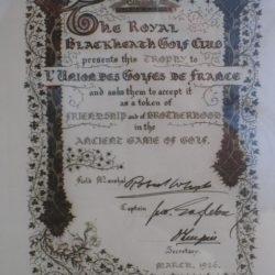 En gage d'Amitié et de Fraternité 1926