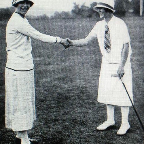 Glenna Collett et Simone Thion de la Chaume Chantilly 1925