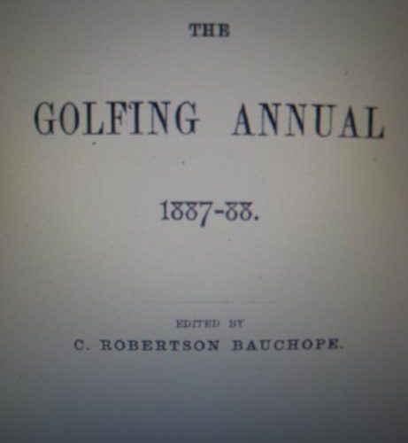 The Golfing Annual 1887- 1888
