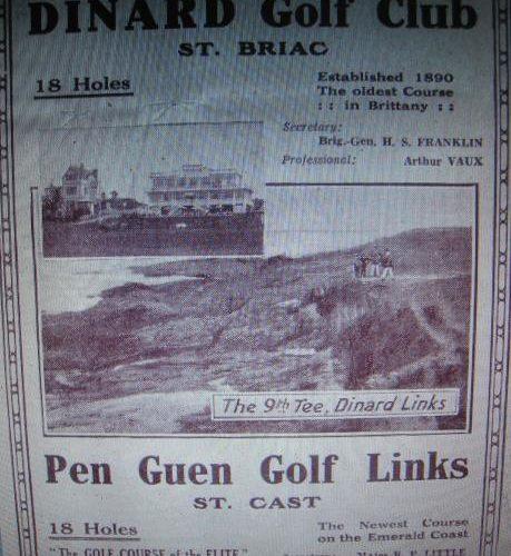 Publicité pour le Golf de Dinard 1932