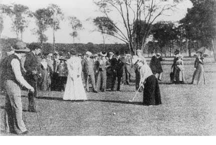 Concurrentes lors des Jeux de Paris / Golf de Compiègne 1900