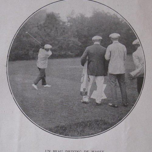 Drive de Massy lors du match inaugural 1909