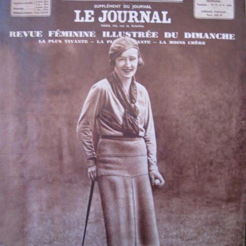 Couverture du magazine EVE / Simone Thion de la Chaume Championne de France 1936