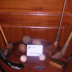 Anciens Clubs exposés lors des 150 ans du Pau Golf Club