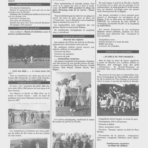 Gazette Programme Centenaire La Nivelle