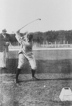 Charles Sands le Champion OlympiqueJeux de Paris 1900/ Golf de Compiègne
