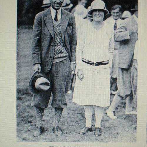 René Lacoste et Simone Thion de la Chaume lors de l'US Women Amateur 1927