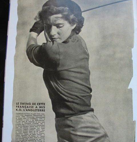 Mlle Lally Vagliano / Championne de France 1939, 1943, 1944, 1946, 1949, 1950, 1951 et 1954.