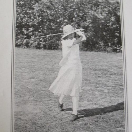 Simone Thion de la Chaume en 1922 lors de la Coupe Femina