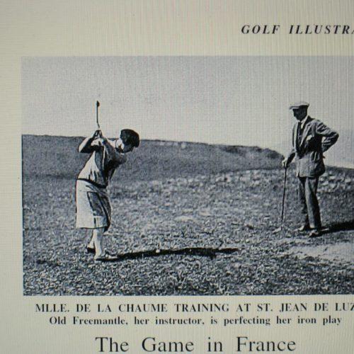 Simone avec Sam Freementle au golf de Ste Barbe St Jean de Luz