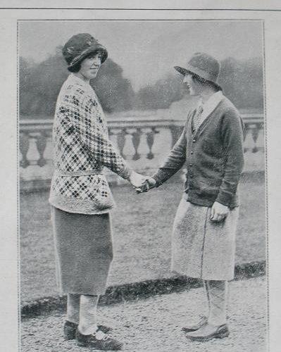 British Girls 1924. Dorothy Pearson et Simone Thion de la Chaume